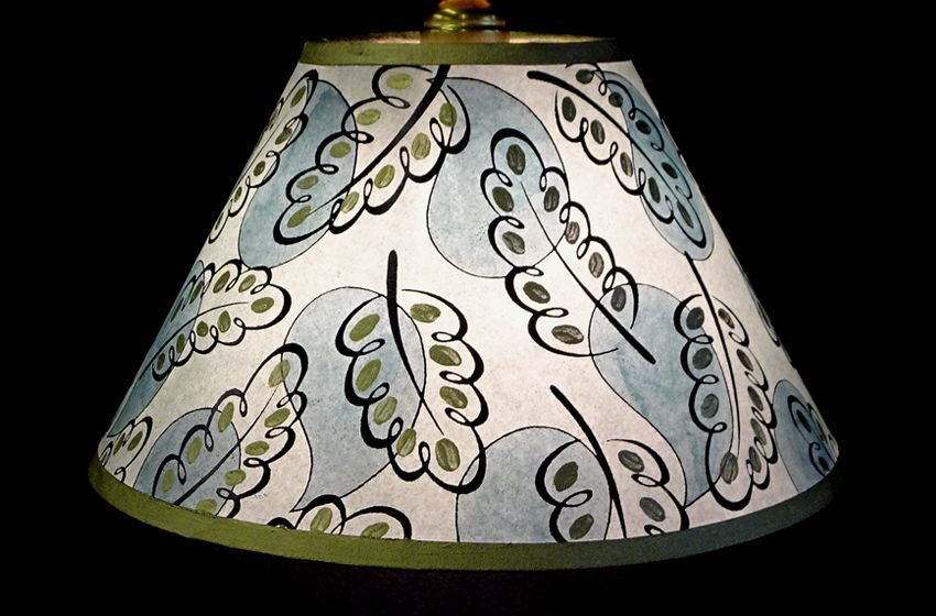 Keeper Of The Flame London Designer Illustrator Cressida Bell Granddaughter Of The Bloomsbury Group S Vanes Patterned Lampshades Lamp Shade Fabric Chandelier