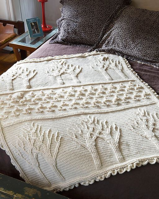 Tree of Life Afghan (Crochet) pattern by Lion Brand Yarn | crochet ...