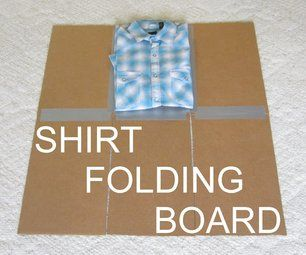 Shirt Folding Board From Cardboard and Duct Tape #foldingclothes