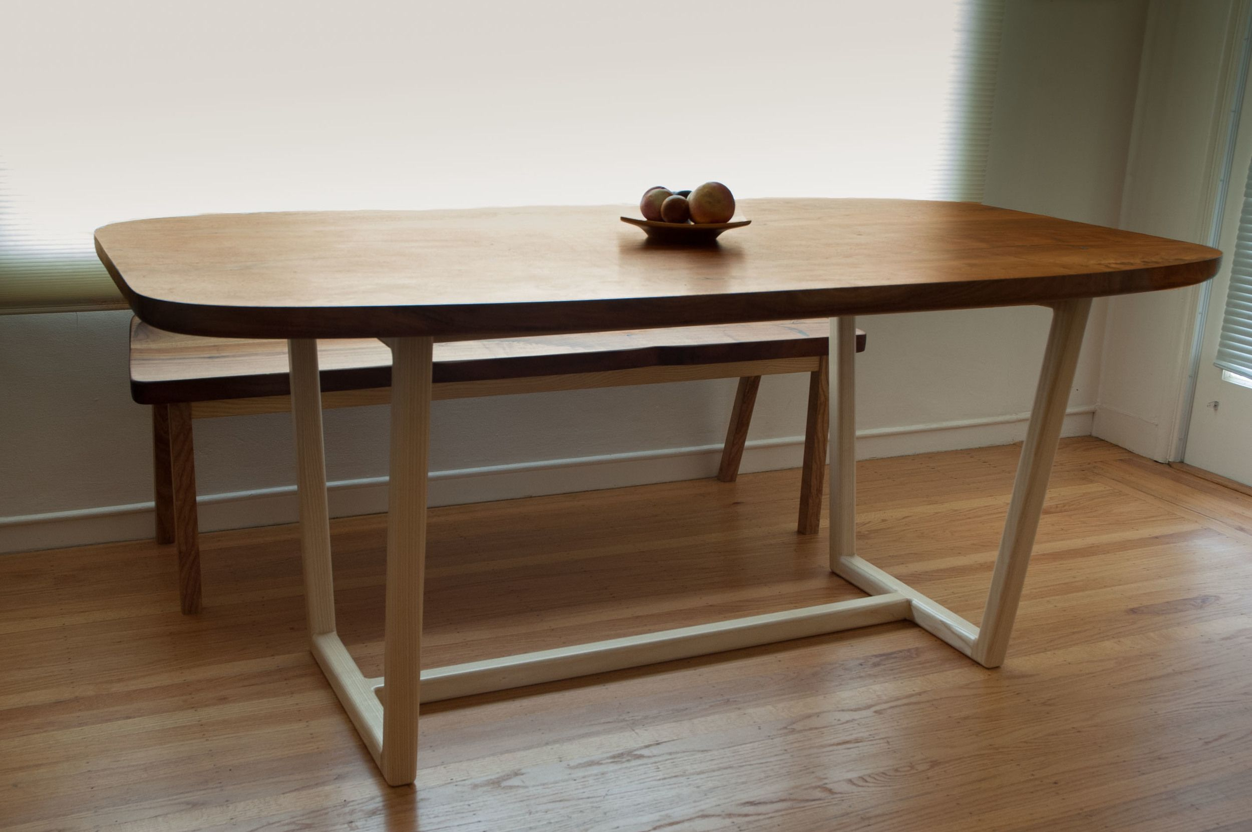 Kitchen table benches  MidCentury Modern Dining Table and Bench  Kitchen  Pinterest