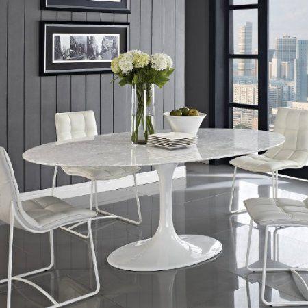 Amazon Com Lexington Modern 78 Inch Lippa Marble Top Dining Table
