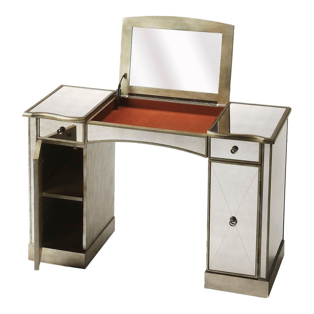 Butler mirror celeste vanity table with mirror vanity