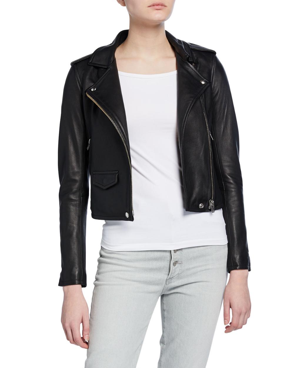 Iro Ashville Cropped Leather Jacket Cropped Leather Jacket Leather Jacket Jackets [ 1250 x 1000 Pixel ]