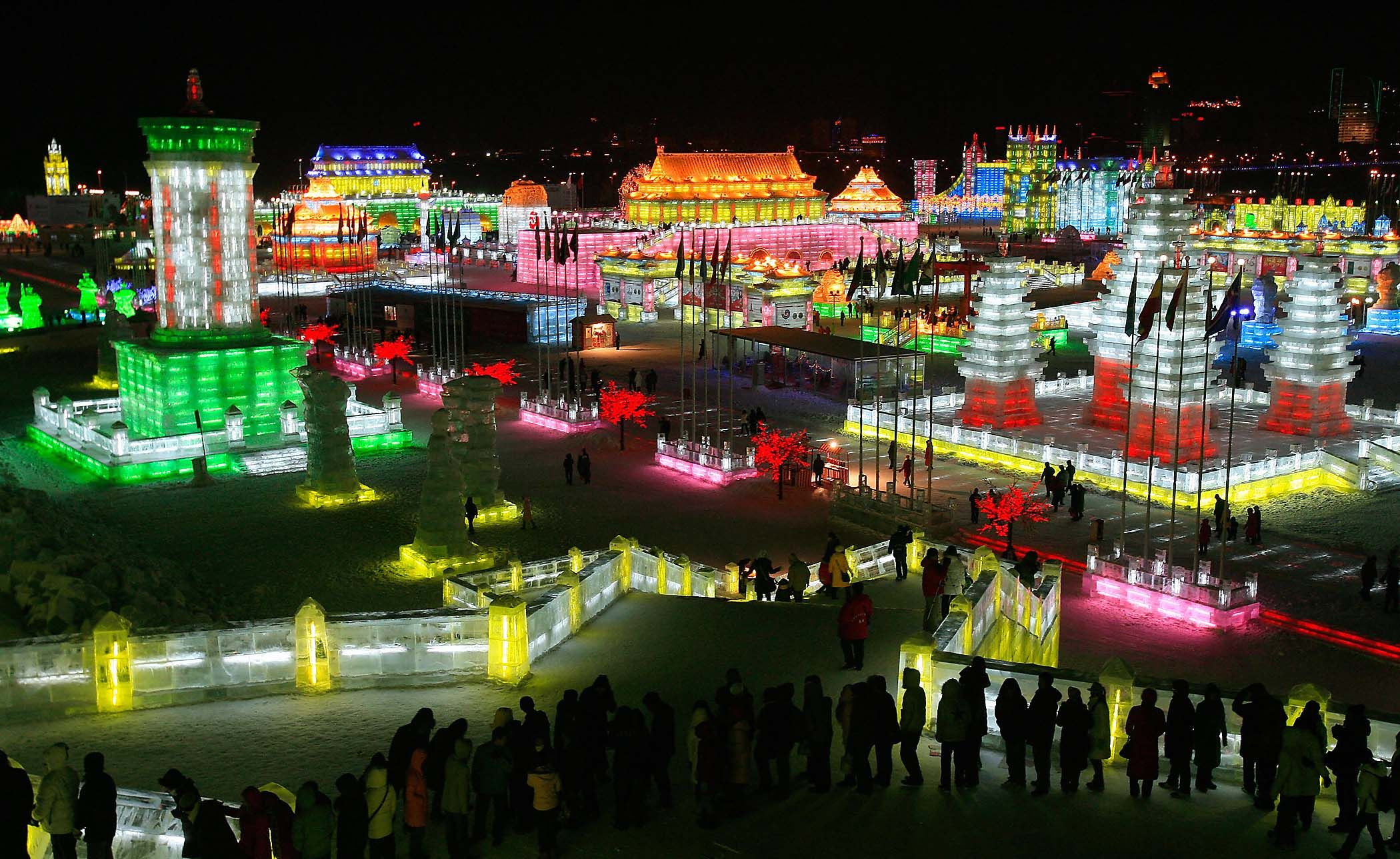 Harbin, China.  Winter Ice Festival.  They do this every year in Harbin.  I should have gone when I lived in China for two years.