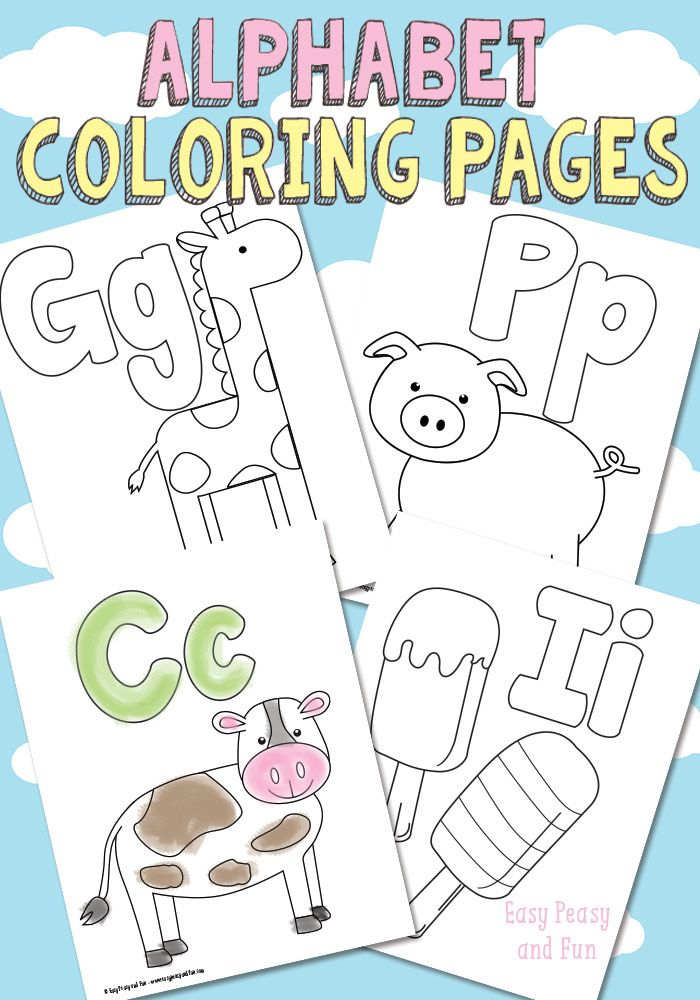 free printable alphabet coloring pages - Free Easy Coloring Pages