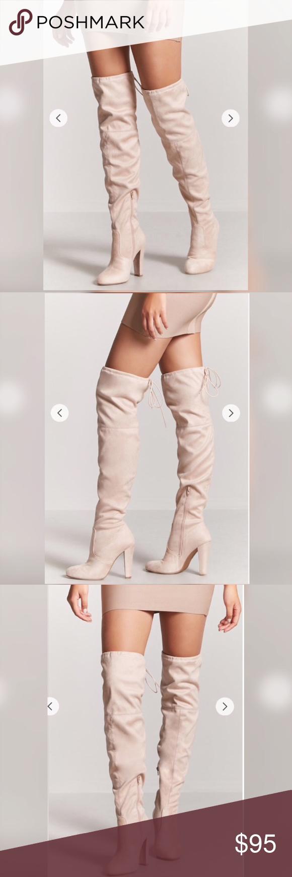 knee heeled suede boots