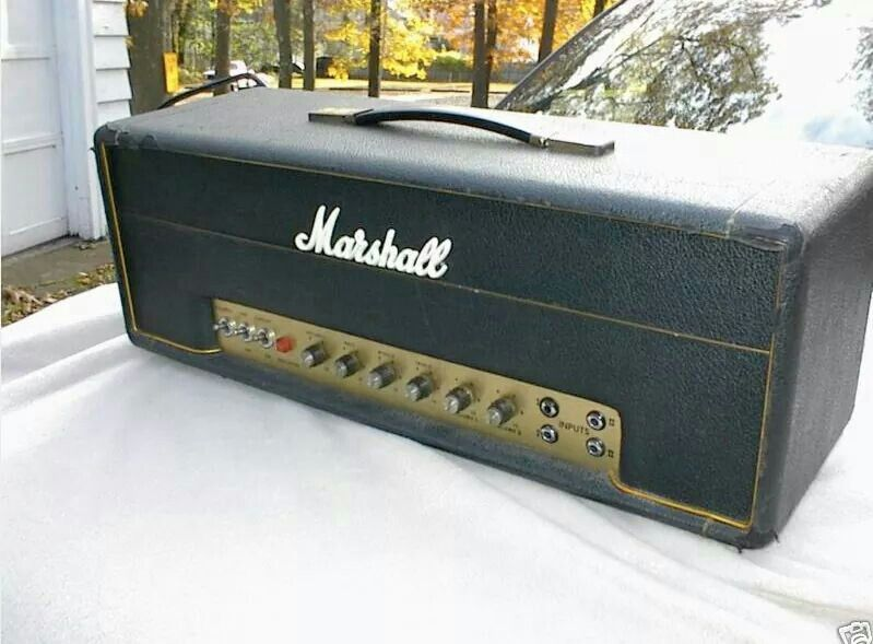 1969 marshall plexi 50 watt head amplifiers in 2019 bass amps guitar amp marshall speaker. Black Bedroom Furniture Sets. Home Design Ideas