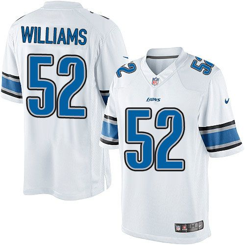 youth nike detroit lions 52 antwione williams limited white nfl jersey