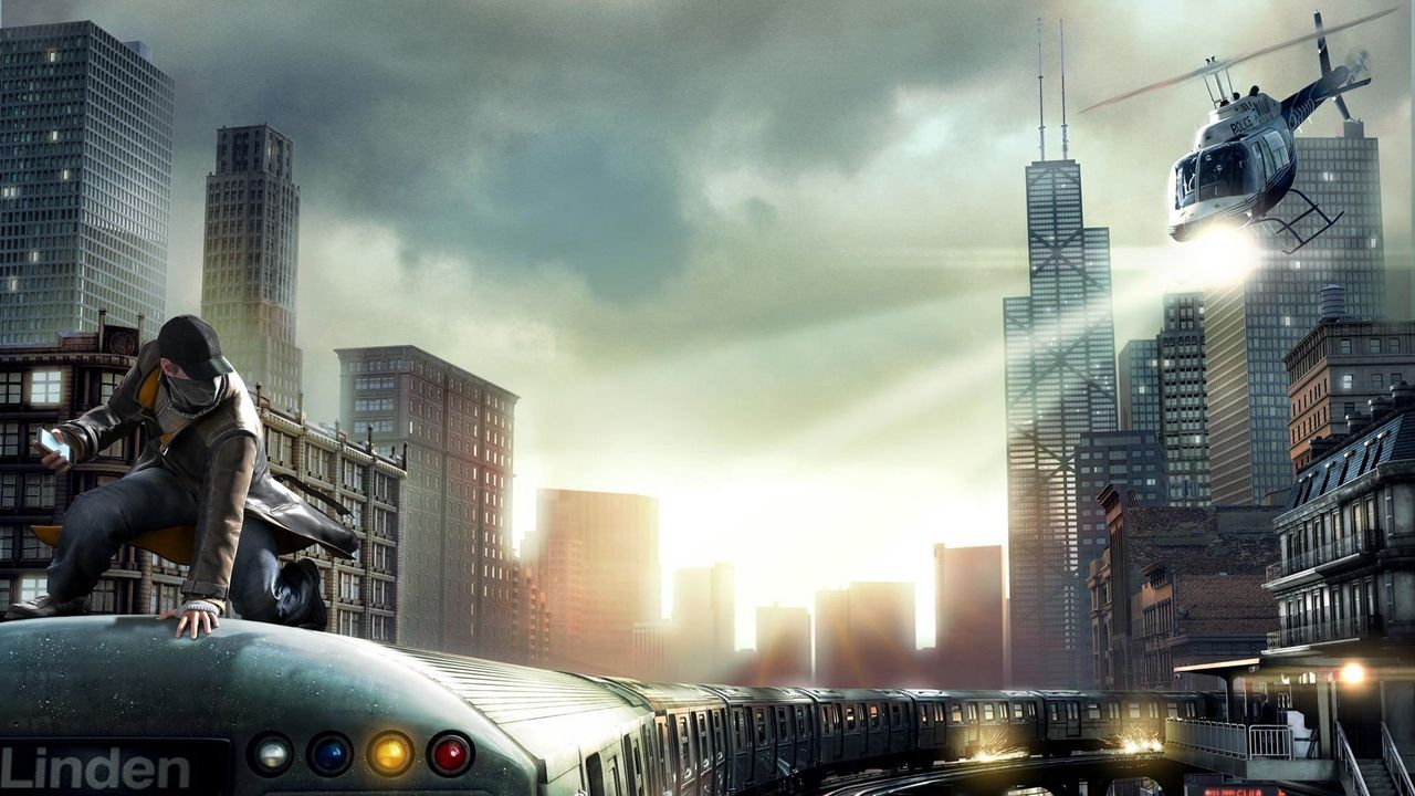 Wallpaper Watch Dogs Aiden Pearce Chicago Train Watch Dogs