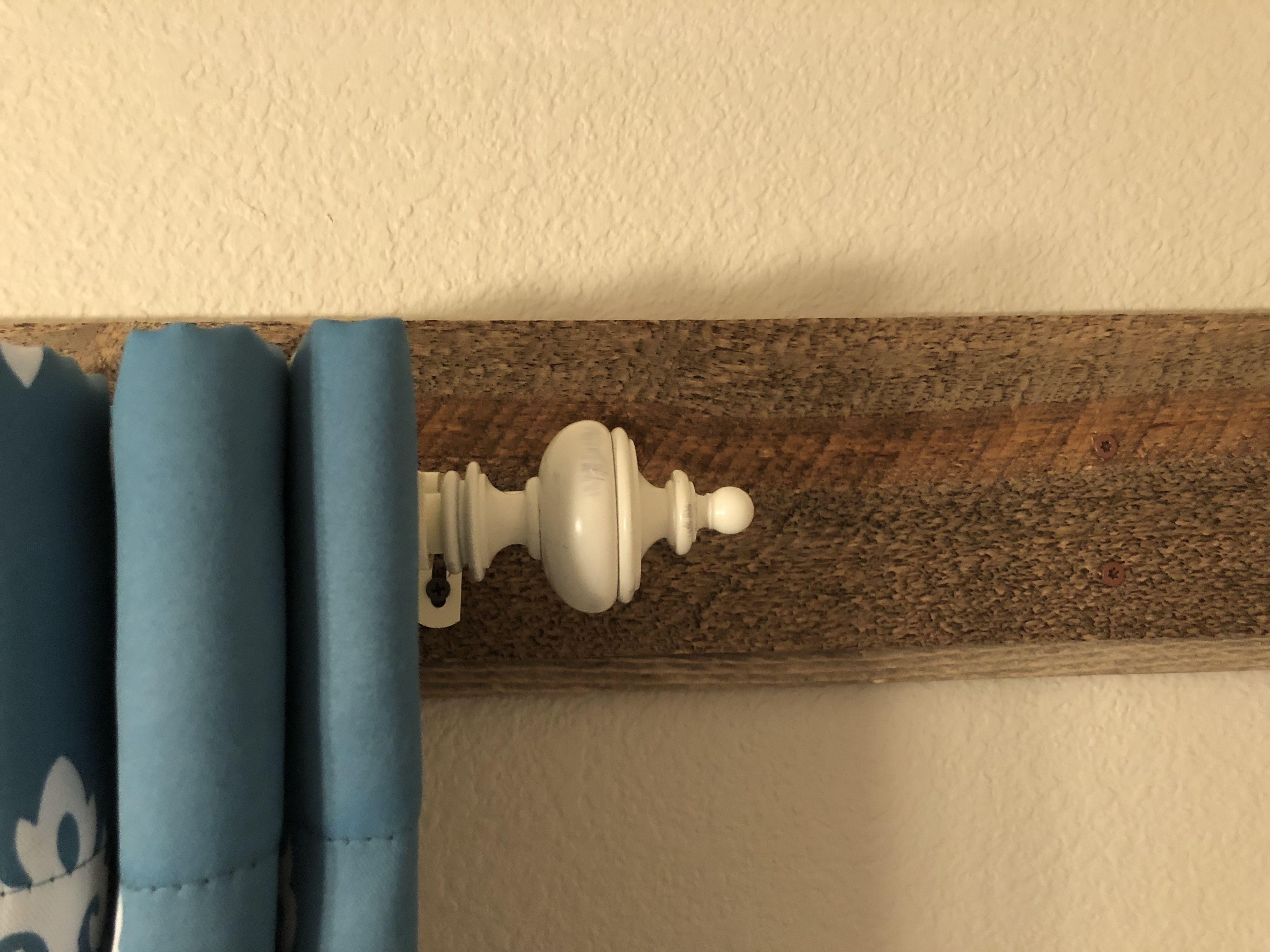 Barnwood Behind Curtain Rod Curtain Rods Wood Curtain Wood