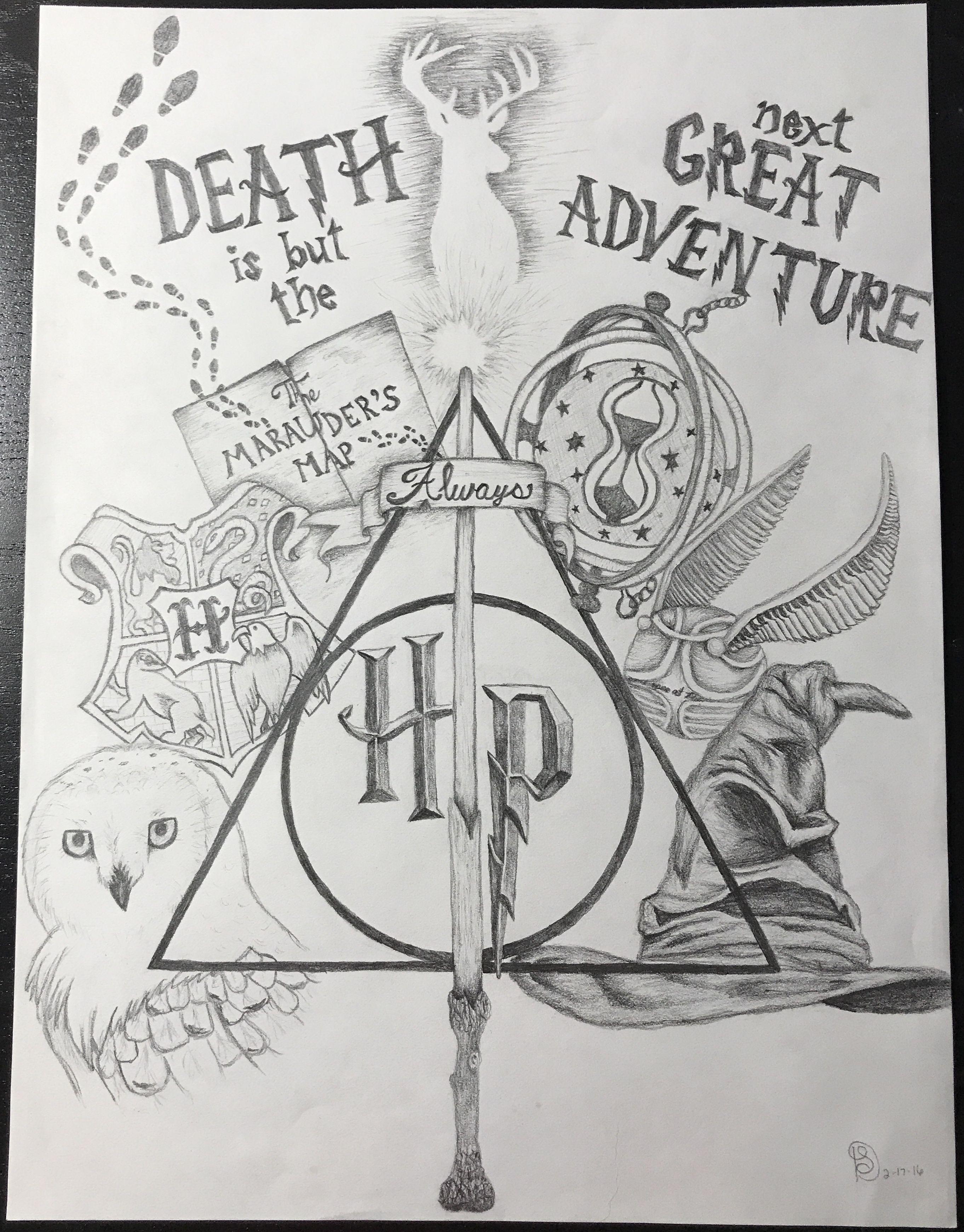 10 Awe Inspiring Keep A Sketchbook Have Fun Ideas Harry Potter Sketch Harry Potter Artwork Harry Potter Drawings