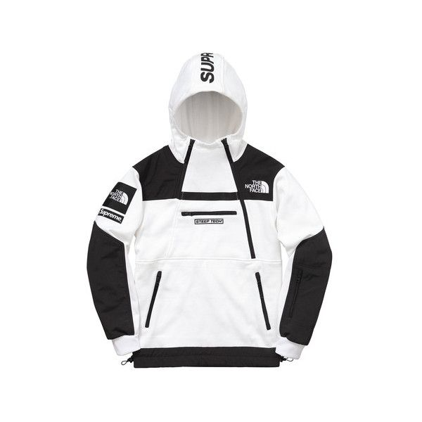 3c806231 Supreme Supreme /The North Face Steep Tech Hooded Sweatshirt ($198) ❤ liked  on Polyvore featuring tops, hoodies, hooded pullover, the north face  hoodie, ...