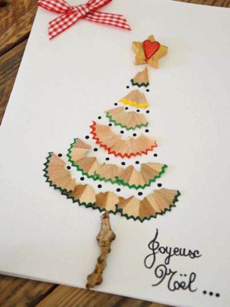 10 idées de cartes de vœux à faire soi même repérées sur Pinte
