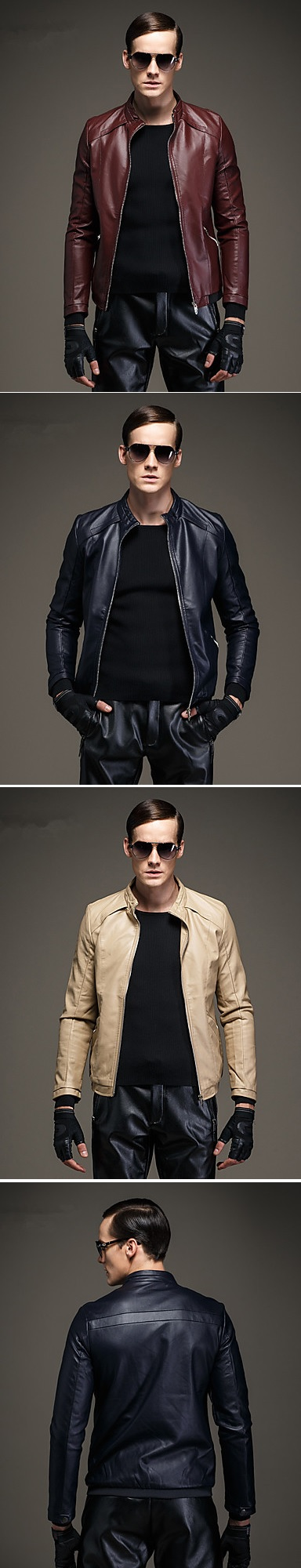 A little bit of Matrix ... Stylish trendy fine leather jacket (comes in black, white, brown colors ) at $59.99