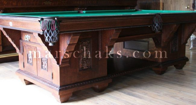 Antique Pool Table Brunswick Cabinet Antique Pool Tables - Pool table cabinet
