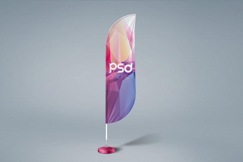 Free Feather Flag Mockup Psd Feather Flags Mockup Psd Business Card Design Minimalist