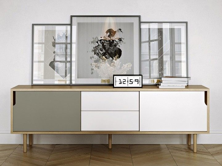 Credenza Dann : Dann sideboard weiß grau eiche design temahome das