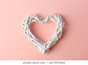 Love Valentines day background or wedding background White heart on a pink pastel background Love concept