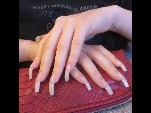 acrylic layover and clear polish in 2019  natural nails