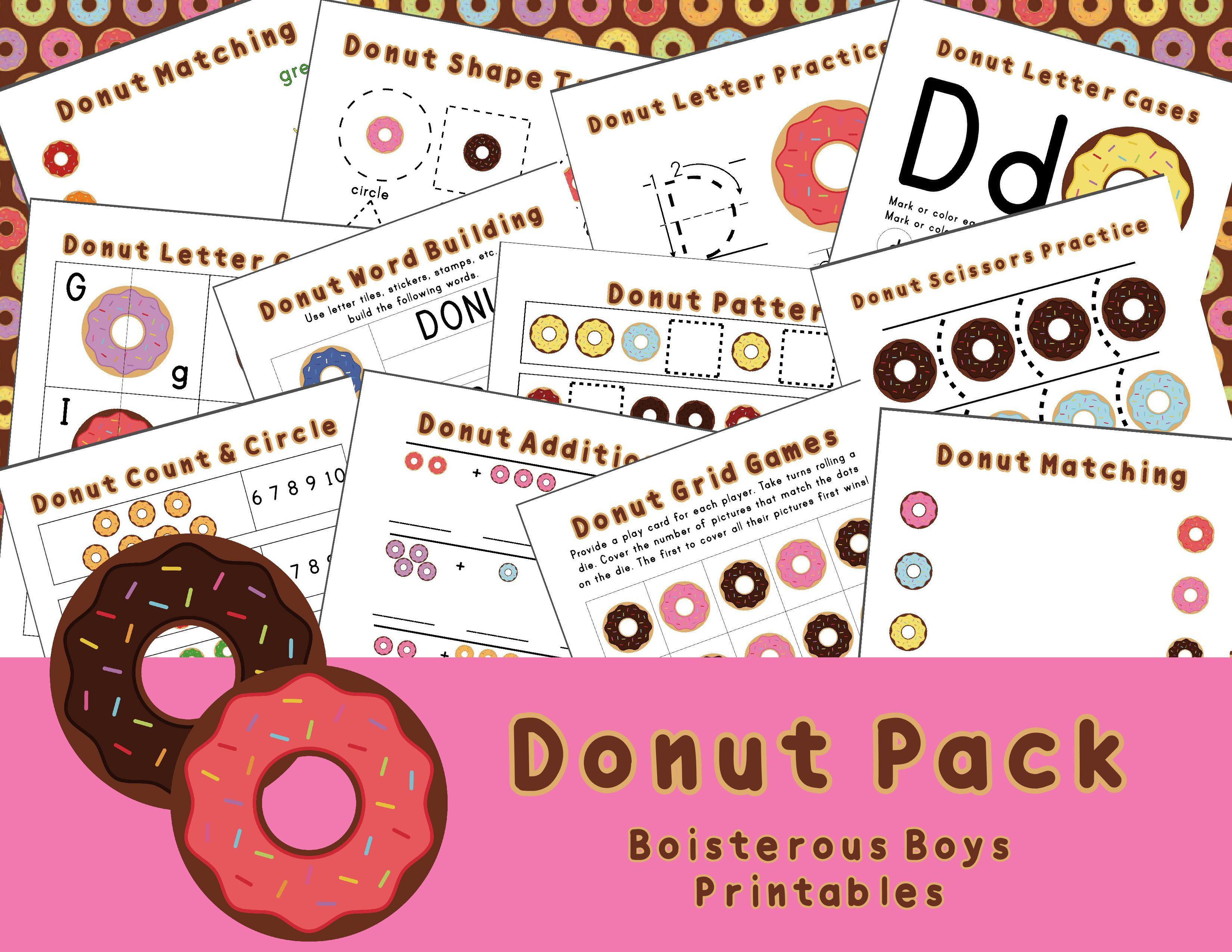Donut Prek Printable Learning Pack