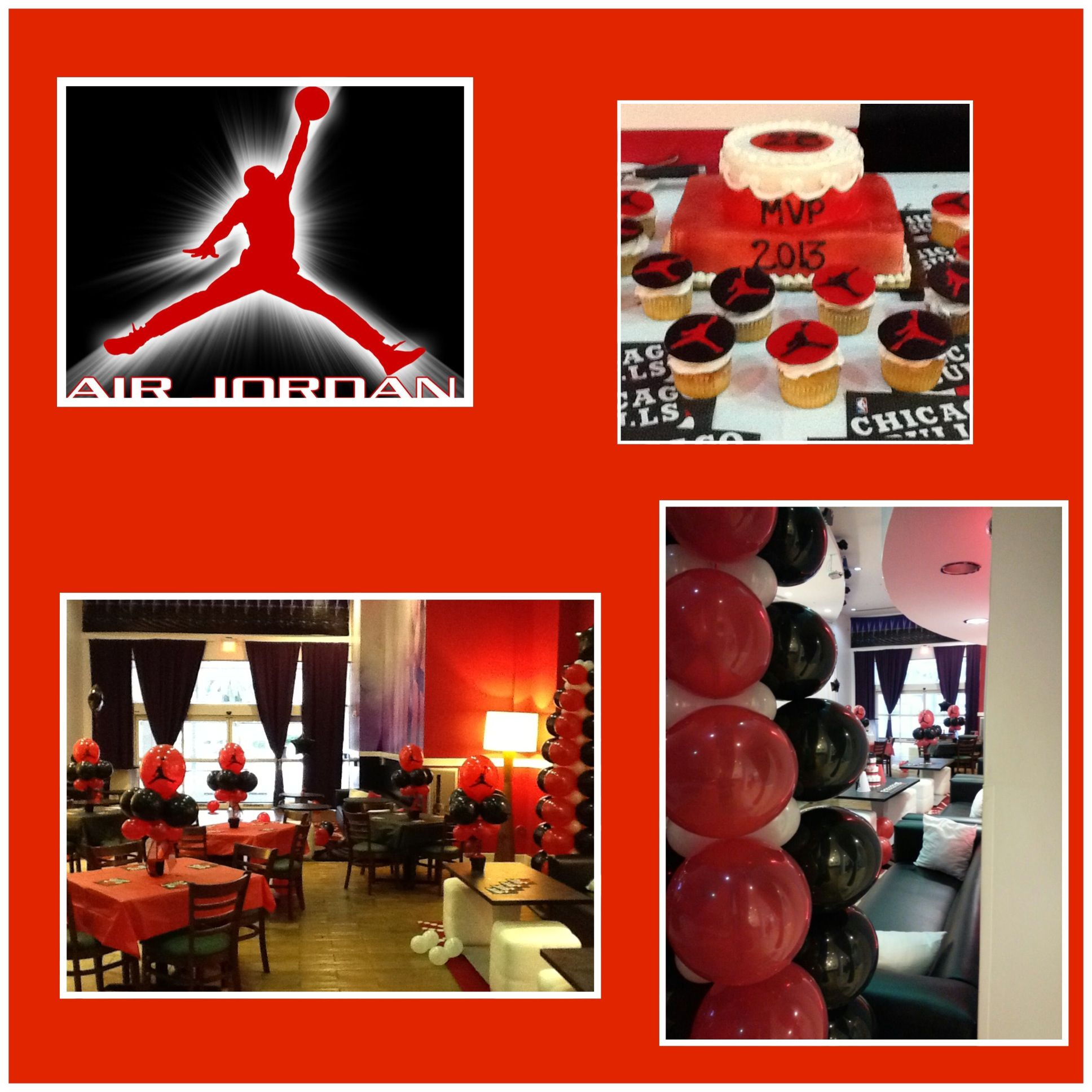 Air Jordan Party Centerpieces You Print Air by LatishaHorton – Michael Jordan Birthday Card