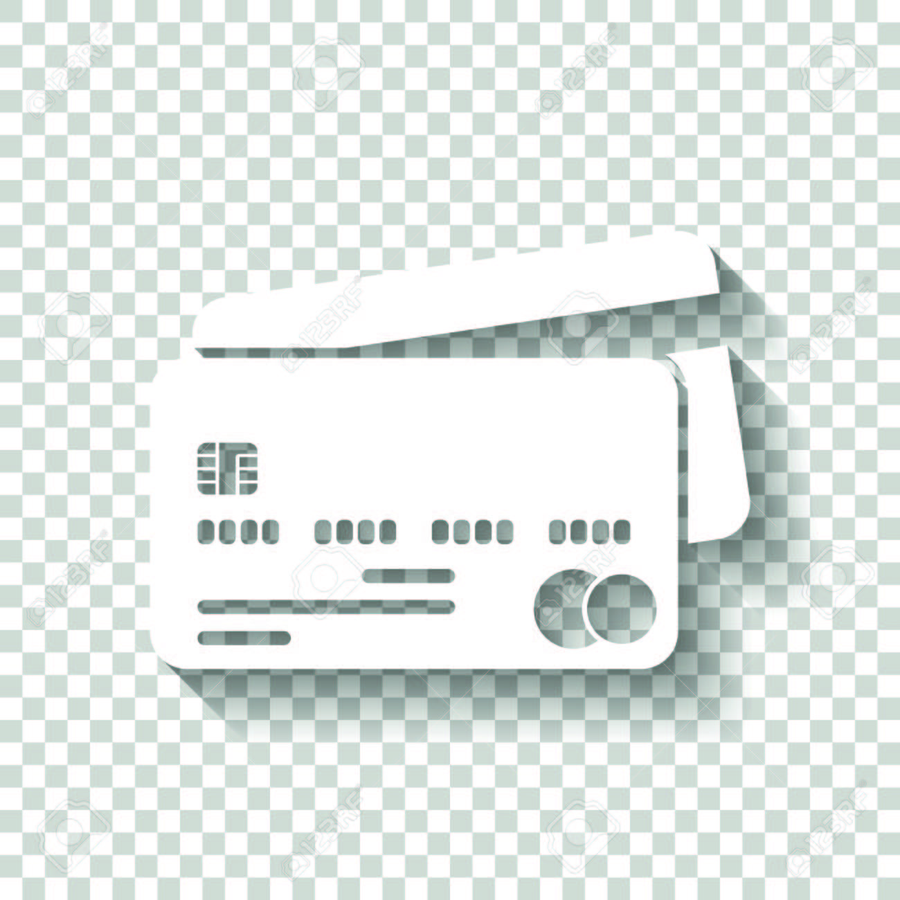 credit card icon white icon with shadow on transparent
