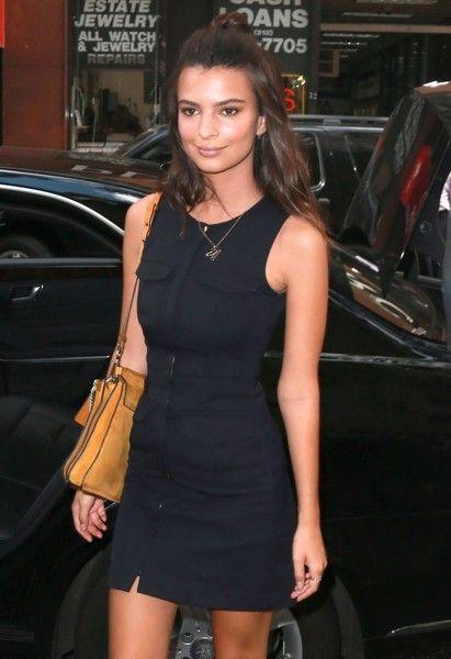 b85be75671b8 Emily Ratajkowski Little Black Dress - Newest Looks - StyleBistro