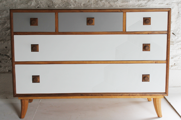 grey chest 2 lucy turner oak formica g plan upcycled UPCYCLED VINTAGE in 2019 70s furniture