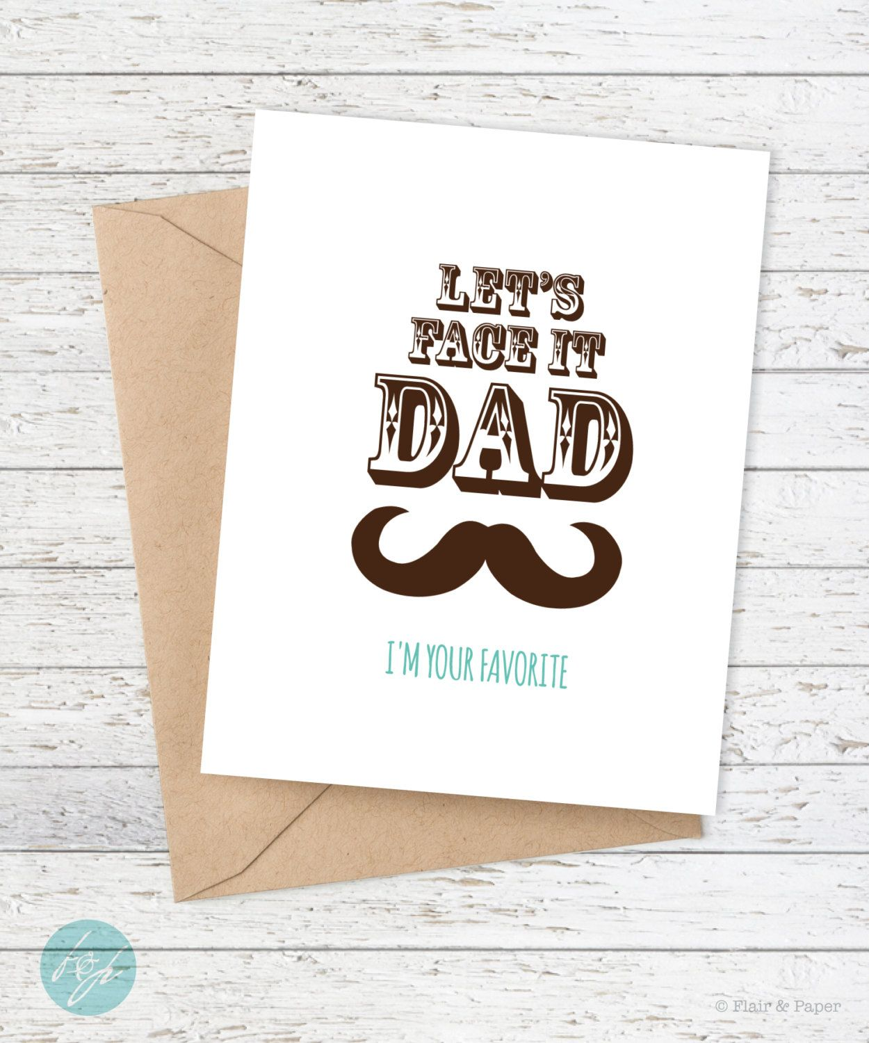 Funny fathers day card dad birthday card father birthday funny fathers day card dad birthday card father birthday lets face it dad bookmarktalkfo Gallery