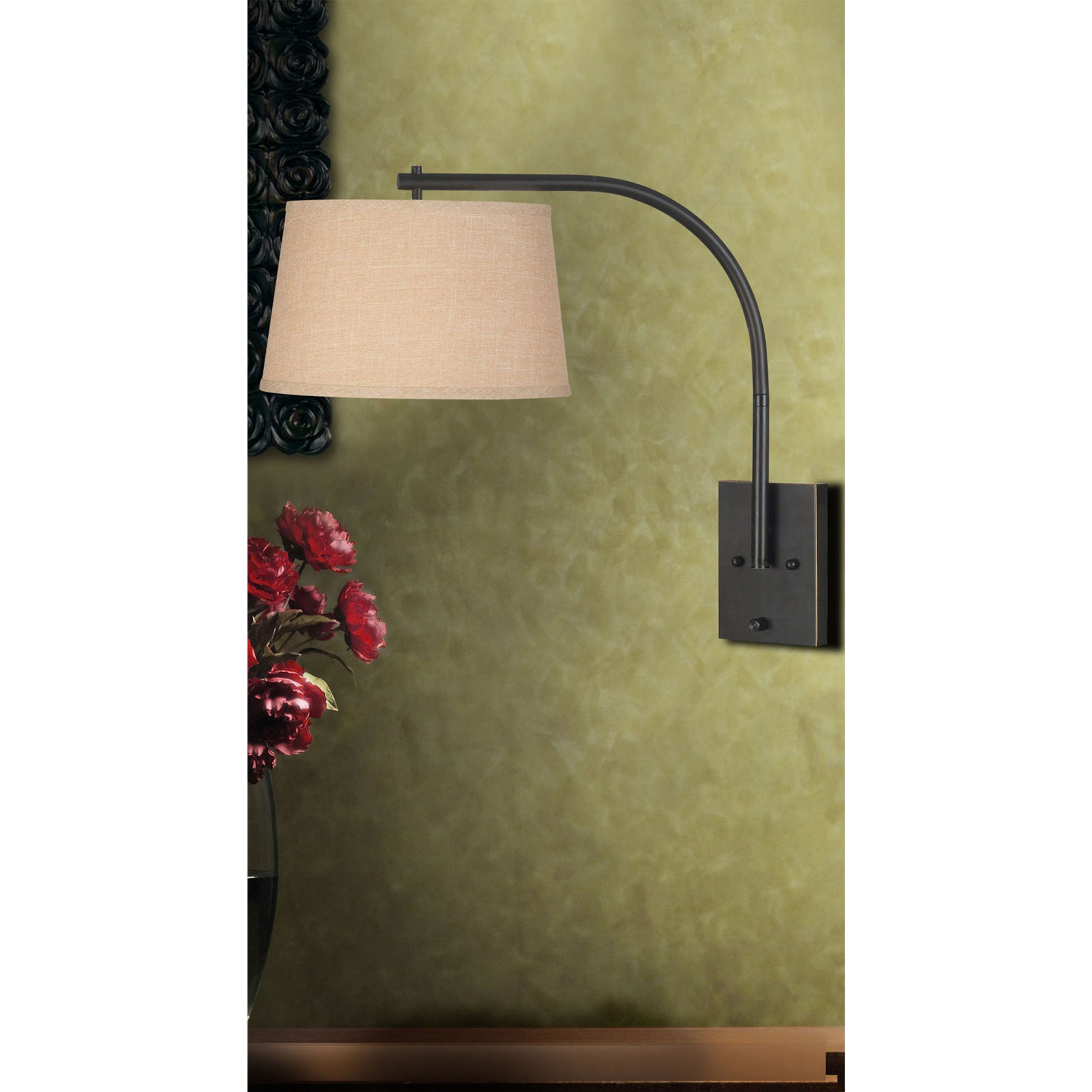 Kenroy home 20950orb sweep wall swing arm lamp oil rubbed bronze kenroy home 20950orb sweep wall swing arm lamp oil rubbed bronze table lamps aloadofball Image collections
