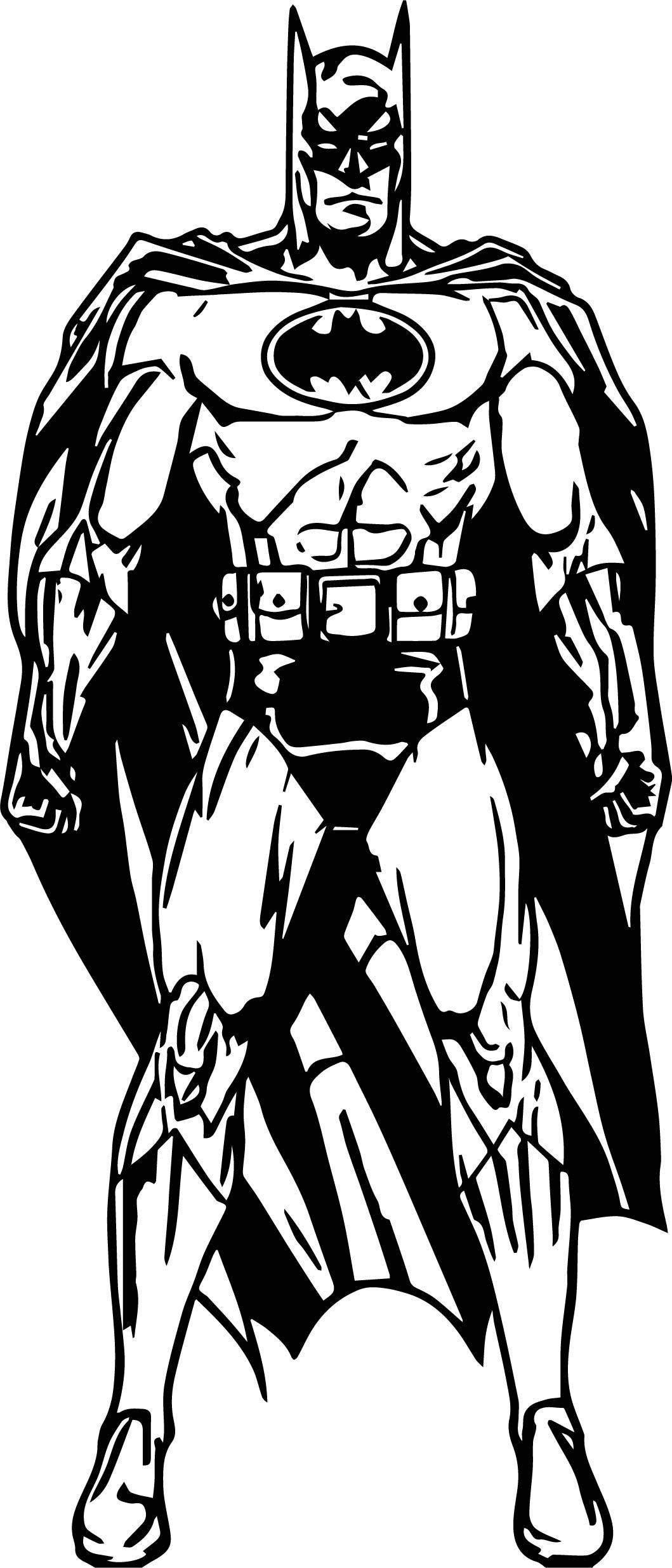 nice Batman Cartoon Style Coloring Page   Batman cartoon ...