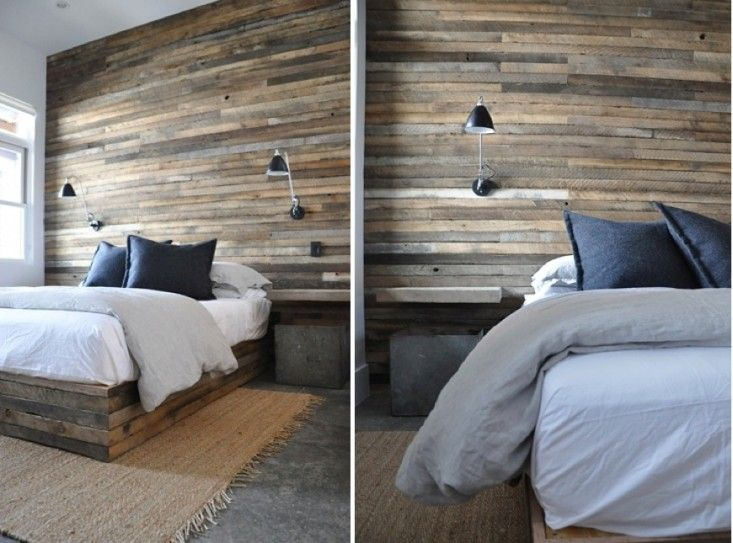 Briggs edward reclaimed wood bedroom wall bedrooms for Wood wallpaper bedroom