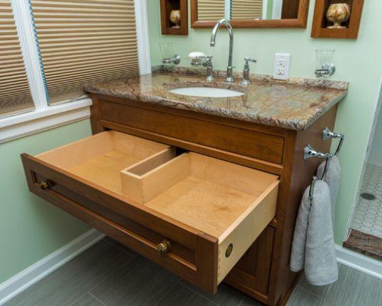 Great storage drawer in vanity #home #remodel #kitchen #bathroom #interiors www.jimhicks.com