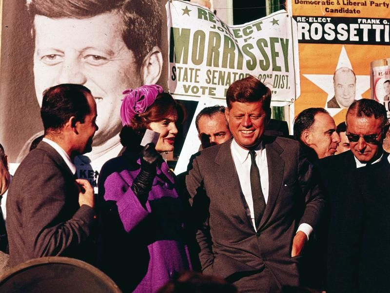 JFK & Jackie campaigning