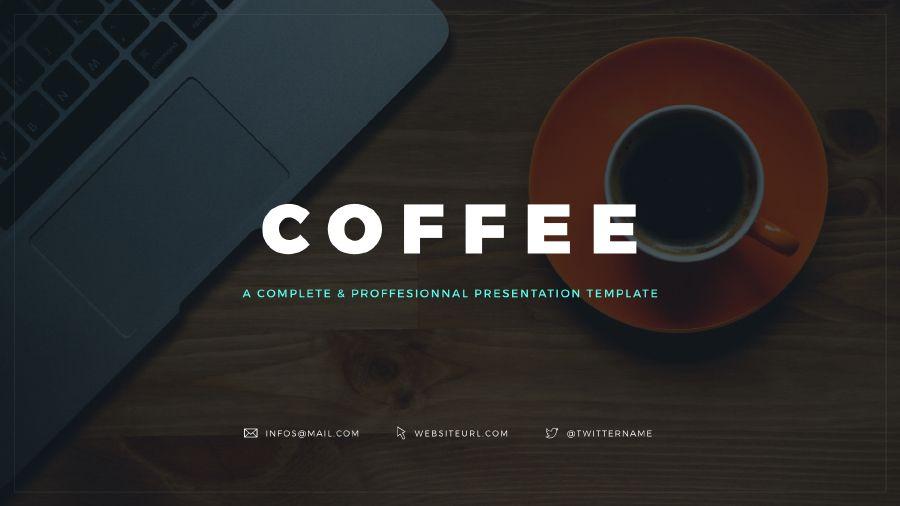 Coffee Free Keynote Template  Free Keynote Templates