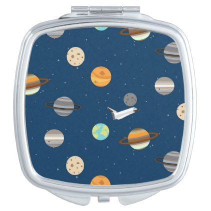 Otter Space Shuttle Planet Exploration Mirror For Makeup