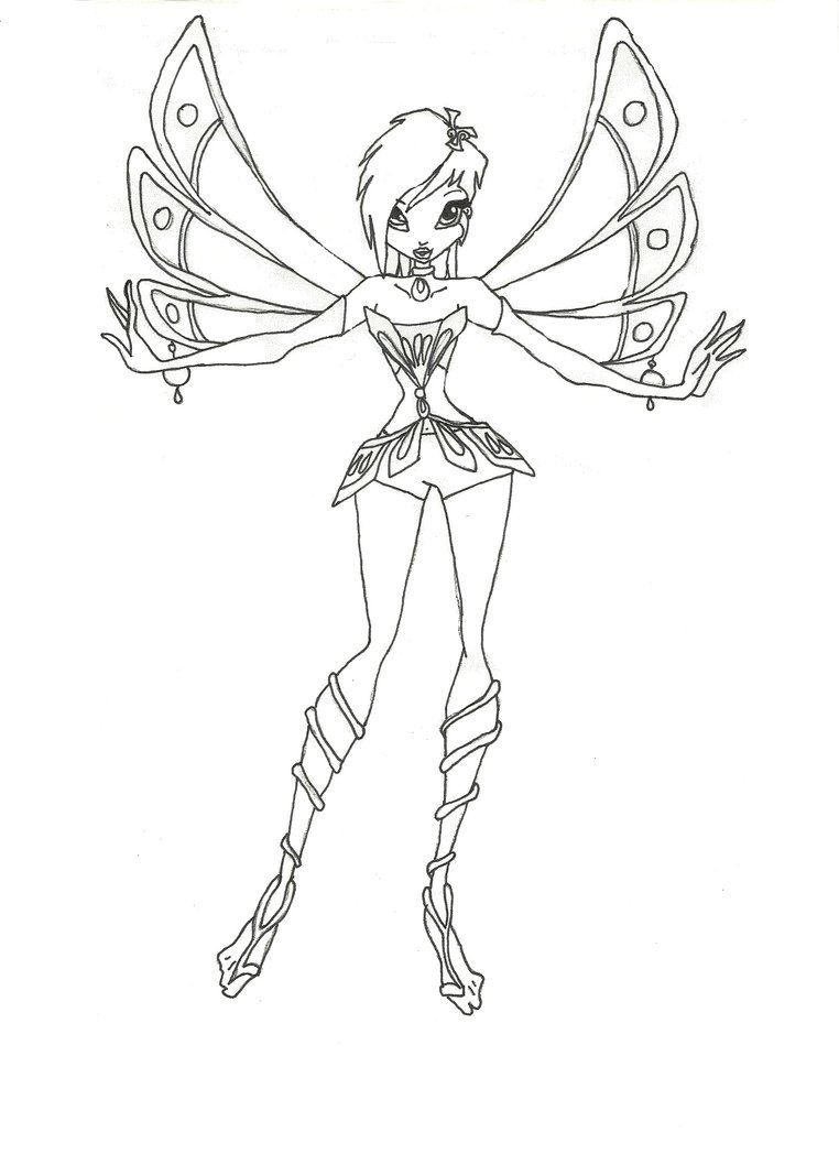 Winx Enchantix Tecna Coloring Page By Timefairy237 On Deviantart