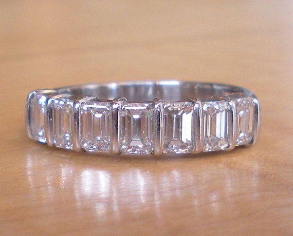 b78ecee12995c Stunning Platinum Emerald Cut Diamond Engagement by GrowGallery ...