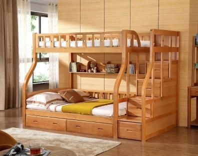 Modern Bunk Bed Kids Bunk Birch Wood Bed Cama Girls
