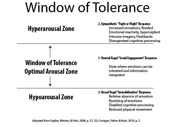 Therapeutic Window of Tolerance Worthit2bme TRAUMA Pinterest - physical therapist job description
