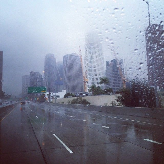 We Took This Photo Of Downtown La On The Morning Of Friday December 12 The Storm Brought By The Weather System Known Pineapple Express Moving Boxes Skyline
