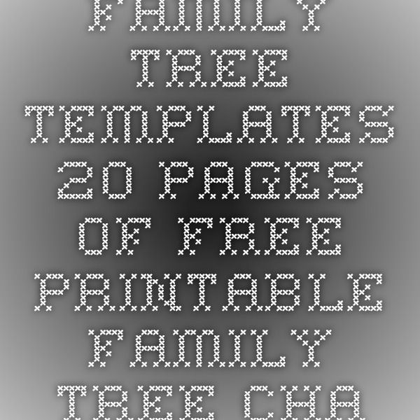 Family Tree Templates - 20 Pages of Free Printable Family Tree - free printable family reunion templates
