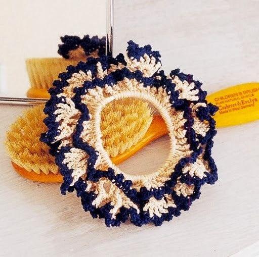 Goma para el Pelo en Crochet Patron | Tejido donas y diademas ...