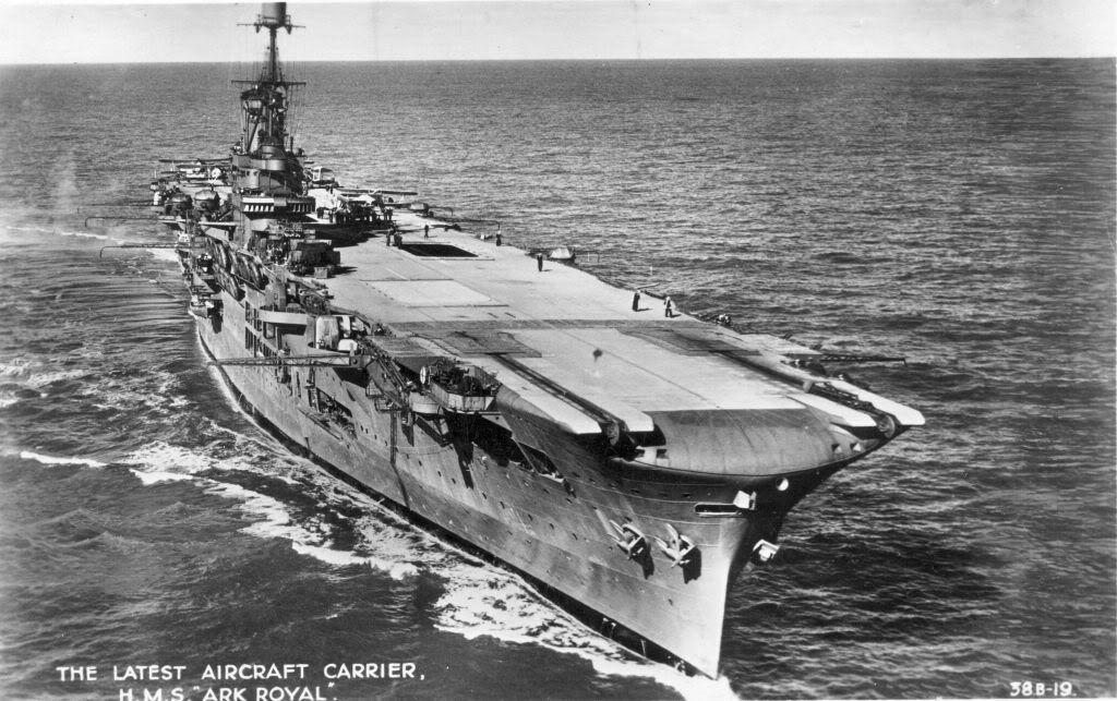 Hms ark royal aircraft carrier ships uboats