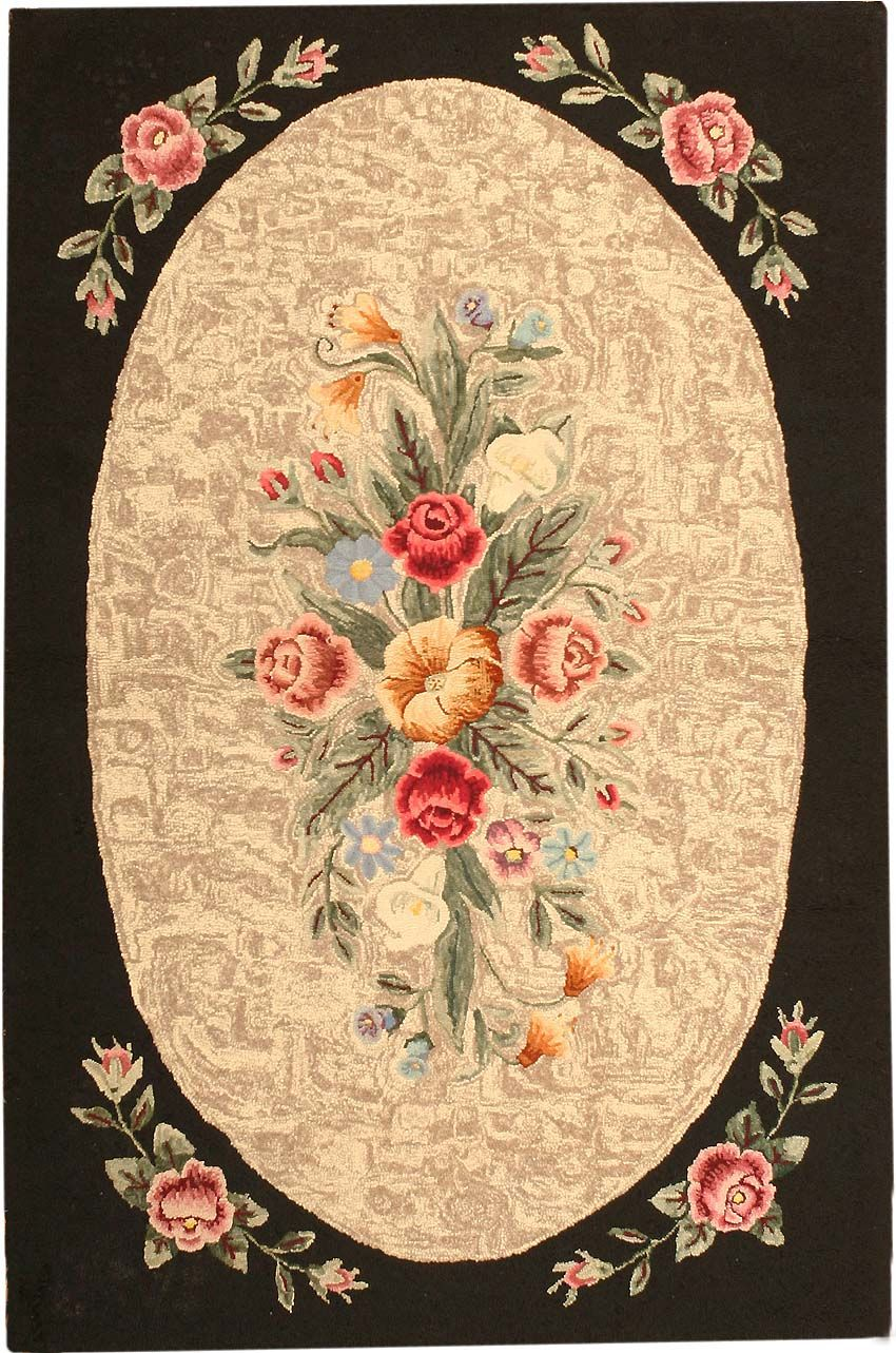 Antique Hooked American Rug 43285 Traditional Rug