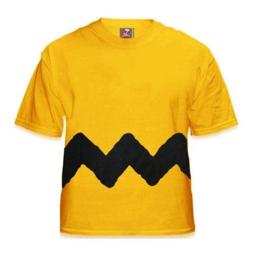 Charlie Brown Zig Zag Stripe yellow t-shirt [Apparel] « Clothing Impulse
