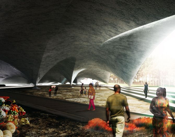 Here is the project Symbiotic Vaulting: Libreville Airport by Andrew Conway Pedron, in collaboration with Rebecca Bartlett. It is a proposal for a great deal of many things under the pretense of a re-imagining of the city's airport. The students, both part of Harvard's GSD Options Studio, describe the project,  Courtesy ofAndrew Conway Pedron …