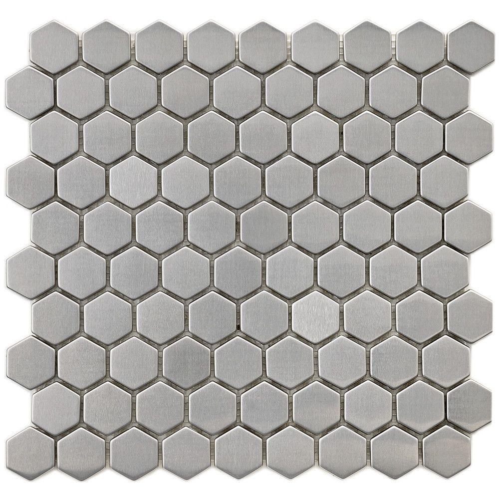 Metallic 1 X 1 Metal Ceramic Mosaic Tile With Images Ceramic Mosaic Tile Mosaic Wall Tiles