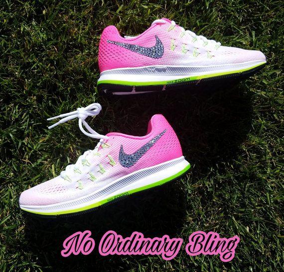 Nike Bling Air Zoom Pegasus 33 Women s by NoOrdinaryBling on Etsy ... 30d4b37161