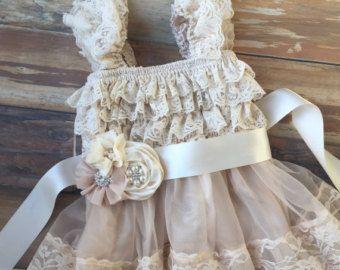 Flower girl dress. Champagne flower girl dress. by KadeesKloset ... e2bc43d674e